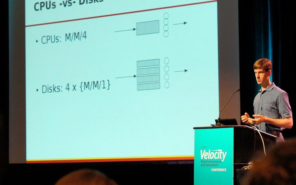 Baron Schwartz giving an Epic Talk on Benchmarking