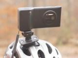 Nokia Lumia 1020 Mounted on Bicycle Helmet