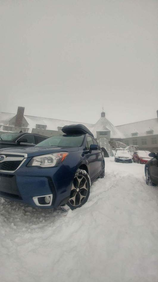 Covered in snow at Timberline Lodge