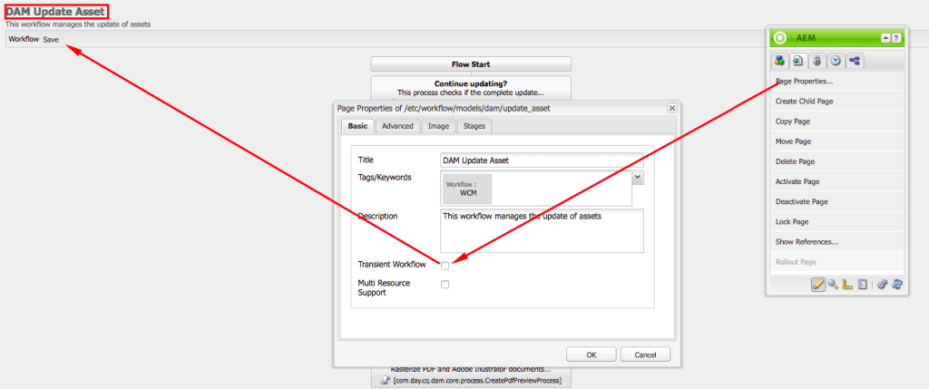 On the worker, open DAM Update Assets worklow and uncheck Transient Workflow, then Save the changes.