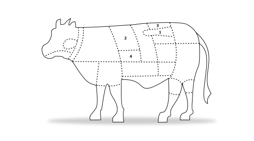 small resolution of the following diagram should give you a better idea of where each cut we offer on jett foods is located on the beef carcass