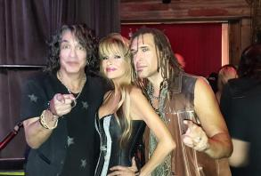 Mr Paul Stanley, Janea, and me. So nice to see him again, and to jam with him this time...surrealism at its finest! FIRST KISS forever!
