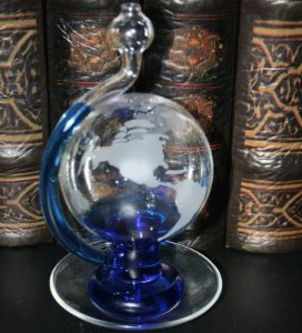 Ambient Weather BA30806 Etched Globe Storm Glass Barometer