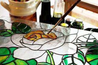 Das Malen auf Glas