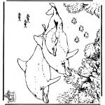 Malvorlagen delfine und wassertiere - Ausmalbilder Tiere