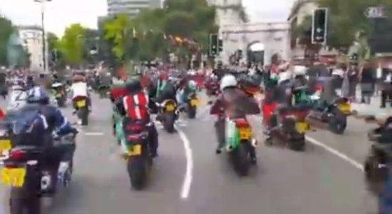 A moto pour Ghaza