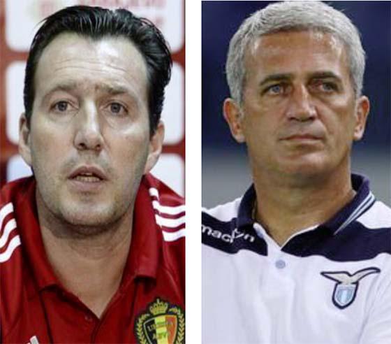 Le Belge Marc Wilmots et le Bosniaque Vladimir Petkovic tiennent le bon couloir