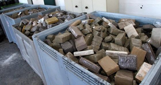 Plus de 220 tonnes de résine  de cannabis saisies en 5 ans