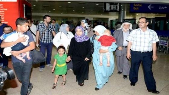Six familles algériennes résidant à Ghaza retournent au pays
