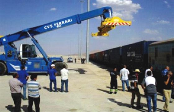 Mise en exploitation du port sec de Tixter