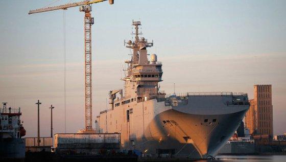 Mistral: première sortie en mer avec des marins russes