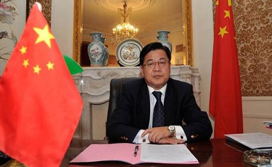 Abdeslam Chelghoum s'entretient avec l'ambassadeur chinois à Alger