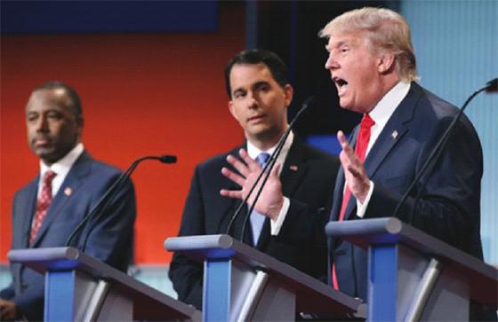 Le tonitruant Trump tire toujours sur ses adversaires