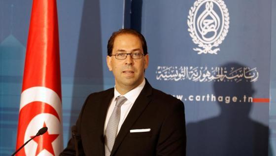 Le chef du gouvernement tunisien, Youssef Chahed, aujourd'hui à Alger
