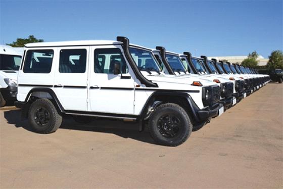 327 véhicules Mercedes-Benz réceptionnés par le MDN