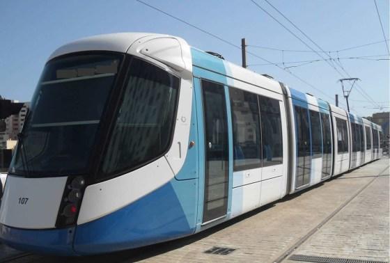 Les travailleurs du tramway en grève