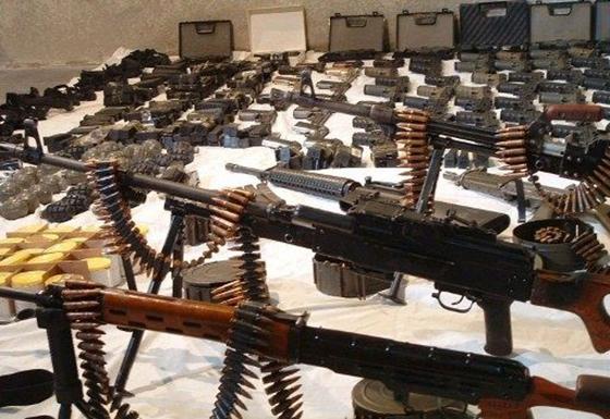Saisie d'un lot d'armements et de munitions près des frontières
