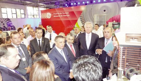 Pose de la première pierre du complexe General Electric Algeria Turbines