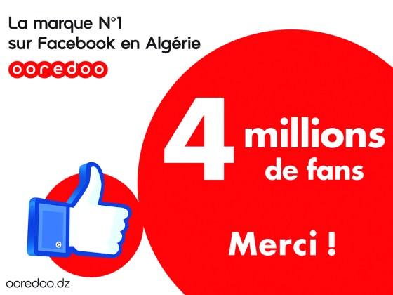 Ooredoo Algérie, la marque préférée des Algériens sur Facebook