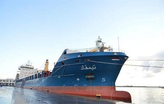 «Timgad», le nouveau navire de marchandises de la CNAN