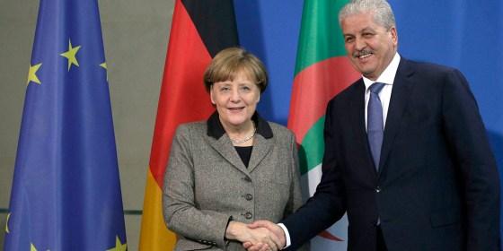 Merkel en Algérie  le 20 février