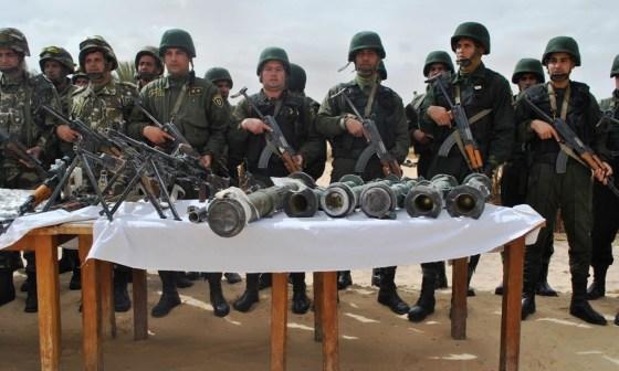 Cinq caches contenant des explosifs et des munitions détruites