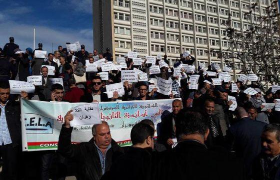 Les retraités de l'éducation d'Alger en sit-in