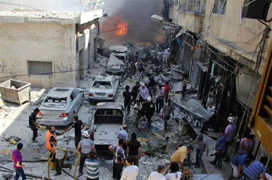 L'aviation syrienne a visé un entrepôt de produits chimiques