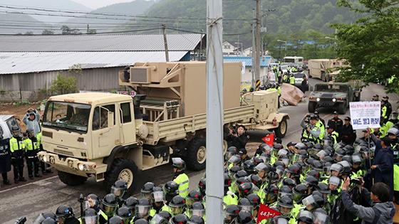 Les premiers éléments du bouclier anti-missiles arrivent à Séoul