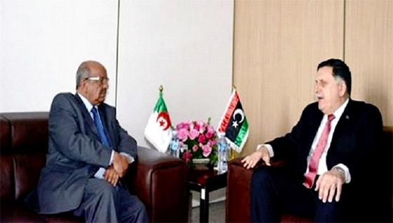 Fayez al-Sarraj mardi à Alger