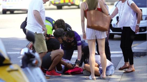 Trois Algériens blessés à Barcelone