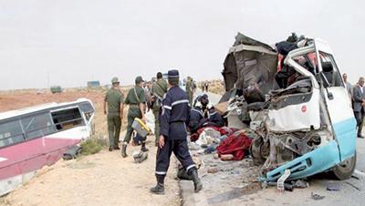 Collision entre un bus et un camion à Sétif : 4 morts et 11 blessés