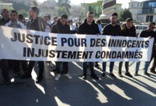 Manifestation des anciens appelés militaires dits « les 18 plus 06 » à Tizi Ouzou