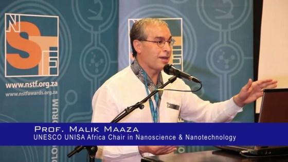 Le professeur Malik Maaza reçoit le prix de l'UA pour l'excellence scientifique
