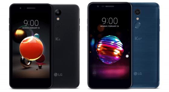 LG dévoile les smartphones de pointe de série K10 et K8