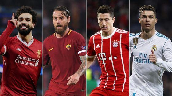 Le Bayern, Liverpool, Madrid et Roma le dernier carré de la ligue des champions