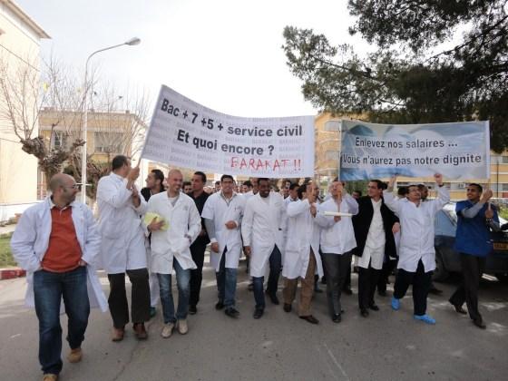 Les résidents en grève avec reprise des gardes