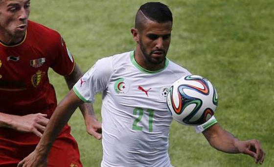 Ryad Mahrez, ailier volant des Verts et de Leicester