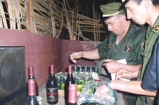 Saisie d'une grande quantité de boissons alcoolisées à Mostaganem