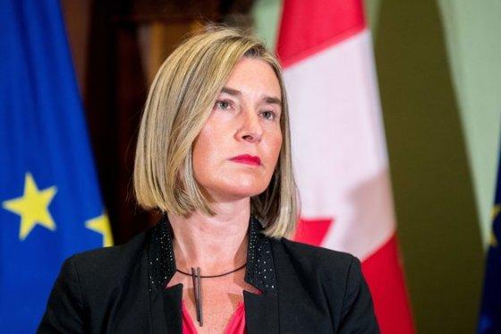 Federica Mogherini en visite à Alger