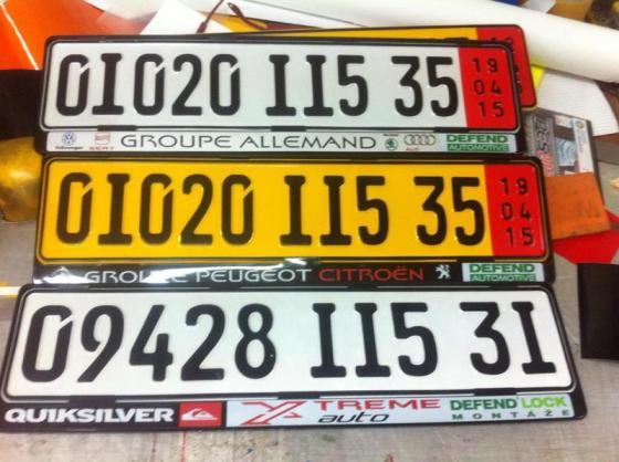 Des milliers de conducteurs sanctionnés pour décoration des plaques d'immatriculation