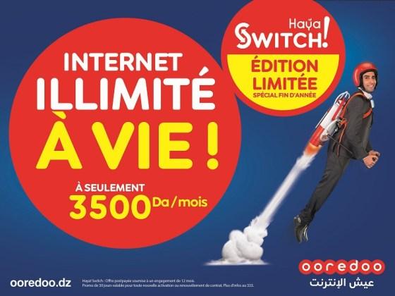 Ooredoo « Haya! Switch» Edition limitée : Profitez de l'Internet illimité à vie