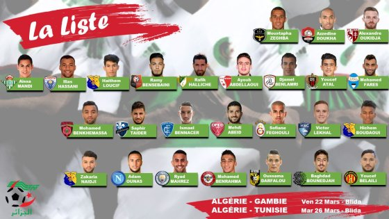 Belmadi retient 26 joueurs pour la Gambie et la Tunisie