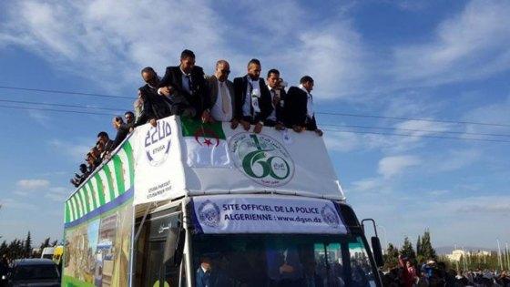 Accueil triomphal des héros de la ligue des champions à Sétif
