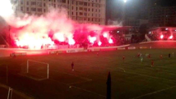 CRB-MCA: tirs de fumigènes entre supporters