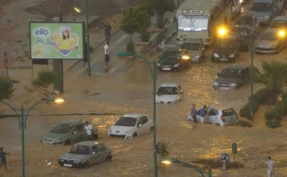 Inondations à Constantine:une personne emportée par les crues du Rhumel