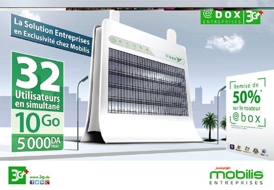 Mobilis : le Routeur e-box Entreprises Avec 32 Connexions en simultané