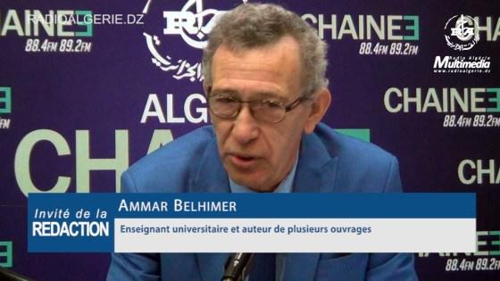 L'universitaire Ammar Belhimeur :  «Pour un dialogue de gestion de sortie de crise»
