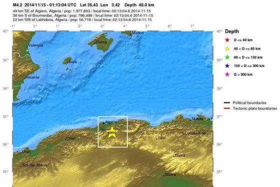 Un séisme de 4.3 sur l'échelle de Richter à Tablat