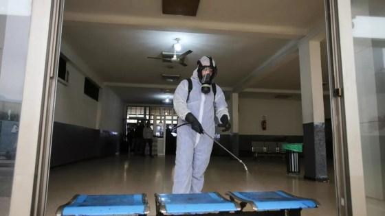Large opération de désinfection à Alger